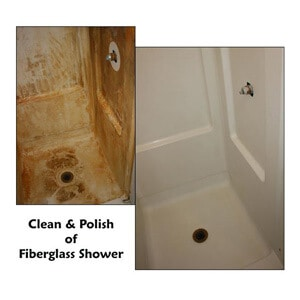 How to clean fiber glass shower