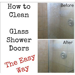 how to clean glass shower doors